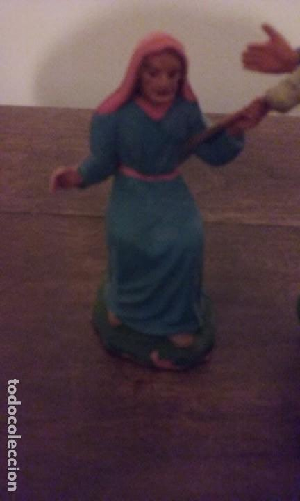 Figuras de Belén: Pequeño lote 9 piezas ( Oliver ) sin marcar - Foto 7 - 194254530
