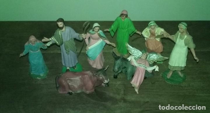 Figuras de Belén: Pequeño lote 9 piezas ( Oliver ) sin marcar - Foto 10 - 194254530