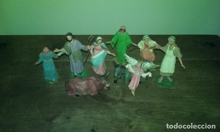 Figuras de Belén: Pequeño lote 9 piezas ( Oliver ) sin marcar - Foto 11 - 194254530