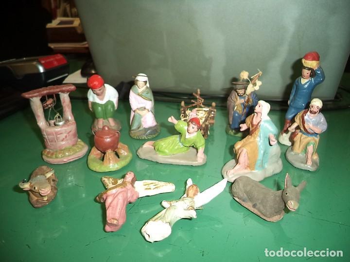 LOTE DE FIGURAS DE TERRACOTA (Coleccionismo - Figuras de Belén)