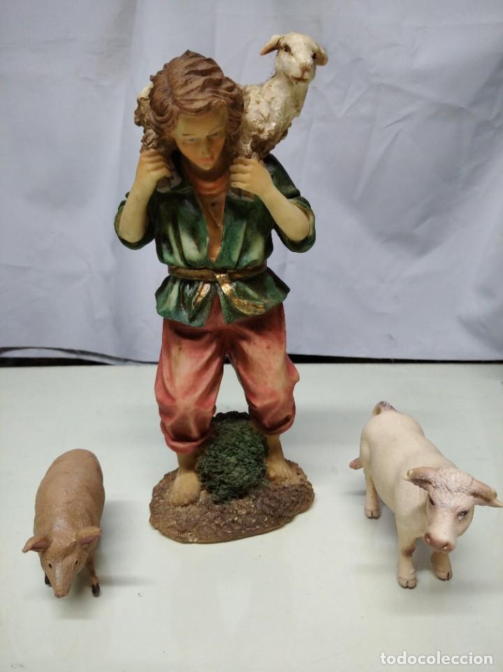 Figuras de Belén: Nacimiento compuesto por 12 figuras fabricadas en resina. Entre 10 y 30 cm altura aprox. cada figura - Foto 10 - 194405400