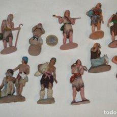Figuras de Belén: ANTIGUO LOTE DE FIGURAS - PASTORES DE BELÉN - AÑOS 60/70 - MADE IN SPAIN - ¡MIRA, MUY VARIADO!. Lote 194769866