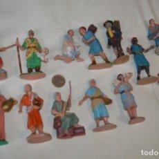 Figuras de Belén: ANTIGUO LOTE DE FIGURAS - PASTORES DE BELÉN - AÑOS 60/70 - MADE IN SPAIN - ¡MIRA, MUY VARIADO!. Lote 194780905