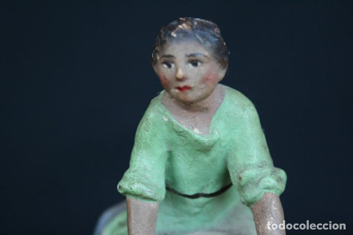 Figuras de Belén: BONITA Y ANTIGUA FIGURA DE PASTOR MONTADO EN CAMELLO , BELEN, PESEBRE EN YESO O ESTUCO POLICROMADO. - Foto 9 - 194872060