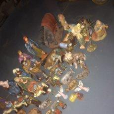 Figuras de Belén: MUY GRAN LOTE DE BELEN DE BARRO ANTIGUO!. Lote 194877298