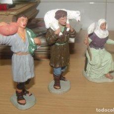 Figuras de Belén: BONITO LOTE 30 PIEZAS, FIGURAS BELÉN, PLÁSTICO, AÑOS 70, OLIVER Y OTROS. Lote 194887528