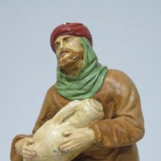Figuras de Belén: FIGURA DE BELEN OFERENTE. YESO POLICROMADO. MEDIADOS SIGLO XX. Lote 194897188