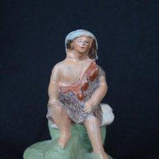 Figuras de Belén: EXTRAORDINARIO PASTOR DE . PESEBRE, BELEN .TERRACOTA O BARRO. Lote 194957030