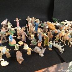 Figuras de Belén: LOTE DE 93 PIEZAS FIGURAS BELÉN / PESEBRE DE PLÁSTICO.. Lote 195075268