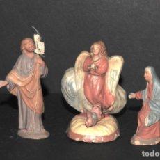 Figuras de Belén: FIGURAS DE BELEN O PESSEBRE EN TERRACOTA - NACIMIENTO. Lote 195183937