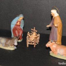 Figuras de Belén: FIGURAS DE BELEN O PESSEBRE EN TERRACOTA - NACIMIENTO (NIÑO JESUS DE PLASTICO). Lote 195185111