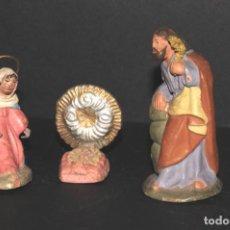 Figuras de Belén: FIGURAS DE BELEN O PESSEBRE EN TERRACOTA - NACIMIENTO . Lote 195185506