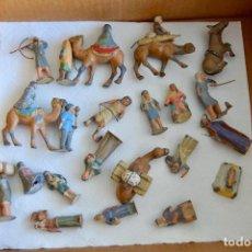 Figuras de Belén: PRECIOSO Y ORIGINAL BELÉN DE PLOMO. FIGURAS, ANIMALES Y ACCESORIOS. 53 ELEMENTOS. CIRCA 1930. RARO. Lote 195215796