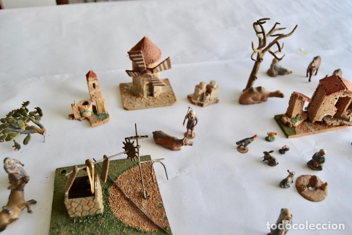 Figuras de Belén: Precioso y Original Belén de Plomo. Figuras, Animales y Accesorios. 53 Elementos. Circa 1930. Raro - Foto 6 - 195215796