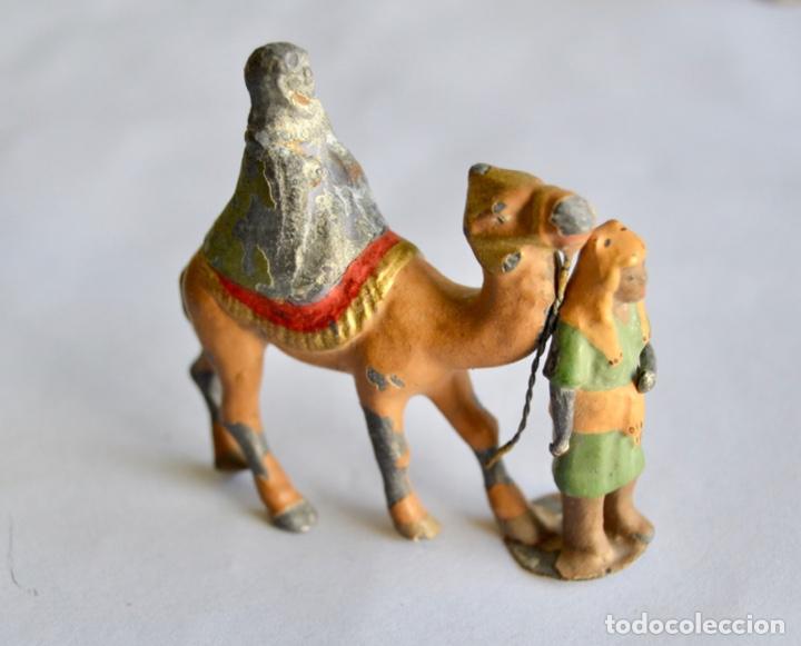 Figuras de Belén: Precioso y Original Belén de Plomo. Figuras, Animales y Accesorios. 53 Elementos. Circa 1930. Raro - Foto 8 - 195215796
