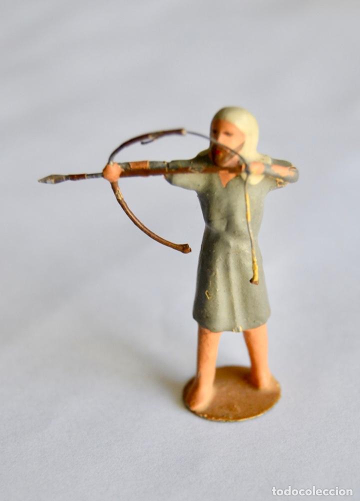 Figuras de Belén: Precioso y Original Belén de Plomo. Figuras, Animales y Accesorios. 53 Elementos. Circa 1930. Raro - Foto 10 - 195215796