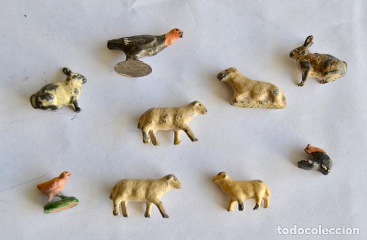 Figuras de Belén: Precioso y Original Belén de Plomo. Figuras, Animales y Accesorios. 53 Elementos. Circa 1930. Raro - Foto 19 - 195215796