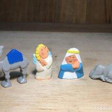 Figuras de Belén: 4 FIGURAS BELÉN MINILAND S. TOYS CAMELLO, ÁNGEL, MULA Y VIRGEN MARÍA. VER FOTOS. Lote 195324330