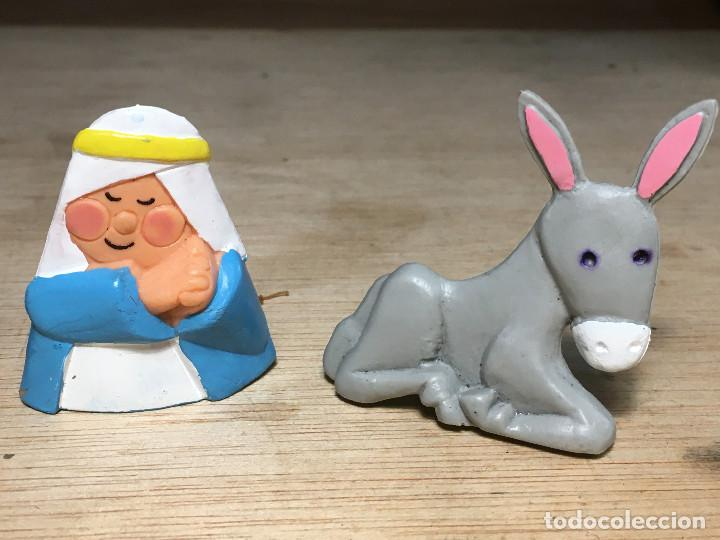 Figuras de Belén: 4 Figuras BELÉN Miniland S. TOYS Camello, Ángel, Mula y Virgen María. ver fotos - Foto 4 - 195324330