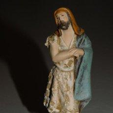 Figuras de Belén: FIGURAS BELÉN DE BARRO *PASTOR * 8 AL X 2,5 BASE. INF. 2 FOTOS.. Lote 195430071