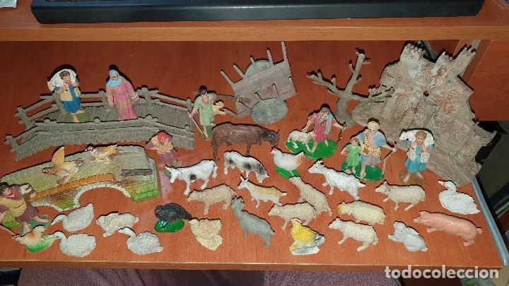 LOTE DE FIGURAS DE PLASTICO ANTIGUAS DE BELEN, TIPO PECH, REAMSA (Coleccionismo - Figuras de Belén)
