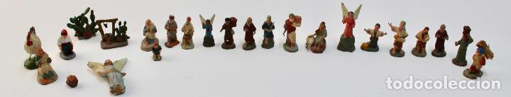 LOTE DE 23 FIGURAS DE BELEN EN TERRACOTA . (Coleccionismo - Figuras de Belén)