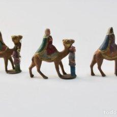 Figuras de Belén: LOTE DE 3 FIGURAS DE BELEN REYES. PLOMO. PRINCIPIOS S.XX. . Lote 195469982