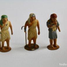 Figuras de Belén: LOTE DE 3 FIGURAS DE BELEN. PASTORES. PRINCIPIOS S.XX.. Lote 195480938