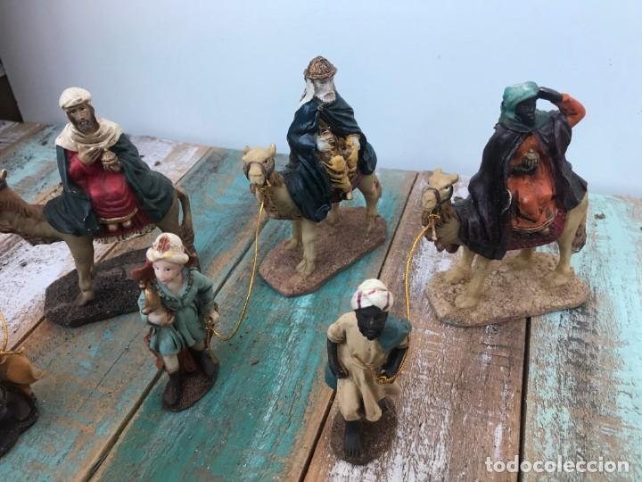 Figuras de Belén: FIGURAS BELÉN 3 REYES + 3 PAJES EN RESINA - Foto 2 - 195667297