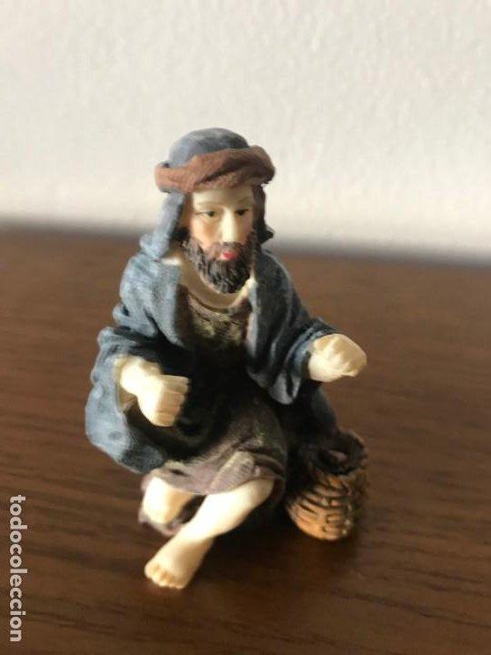 FIGURAS BELÉN ALDEANO SENTADO (Coleccionismo - Figuras de Belén)