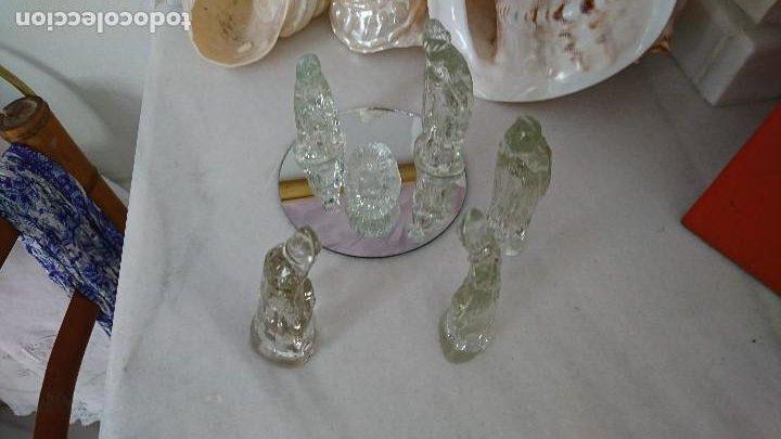 Figuras de Belén: Antiguo Belen de cristal. - Foto 2 - 197099926