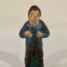 Figuras de Belén: PASTOR DE BARRO - CACHARRERÍA MURCIANA 7 CM. Lote 197309457