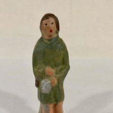 Figuras de Belén: PASTOR DE BARRO - CACHARRERÍA MURCIANA 7,5 CM. Lote 197313041
