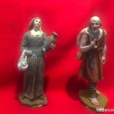 Figuras de Belén: FIGURAS BELEN, HOMBRE Y MUJER CON JARRA PARA RESTAURAR SERIE 12 OLOT.. Lote 197314255