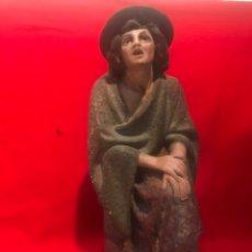 Figuras de Belén: FIGURA BELEN, PASTOR ANUNCIACION DE ESTUCO PARA RESTAURAR, SERIE 30 OLOT.. Lote 197314530