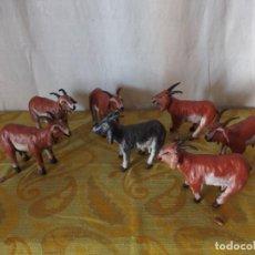 Figuras de Belén: CABRAS DE TERRACOTA FIGURAS BELÉN. Lote 198941967