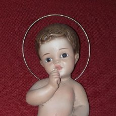 Figuras de Belén: FIGURA NIÑO JESÚS DE ESTUCO VINTAGE MEDIADOS SIGLO XX. Lote 202431643