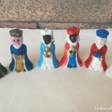 Figurines pour Crèches de Noël: 6 ANTIGUAS FIGURAS SORPRESAS ROSCÓN REYES DE PLASTICO DURO - ALTURA: 3,2 CM. Lote 203538977
