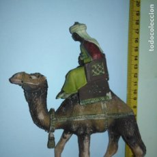 Figuras de Belén: PLASTICO DURO GRAN TAMAÑO ANTIGUA RARA FIGURA PORTAL BELEN MISTERIO NACIMIENTO NAVIDAD PECH OLIVER. Lote 206585018