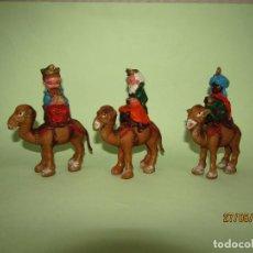 Figuras de Belén: ANTIGUOS REYES MAGOS CABEZONES PARA BELÉN INFANTIL. Lote 207126353