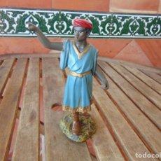Statuine di Presepe: FIGURA DE BELEN EN ESTUCO, DE OLOT PAGE O SIMILAR MIDE 21 CM. Lote 210594533
