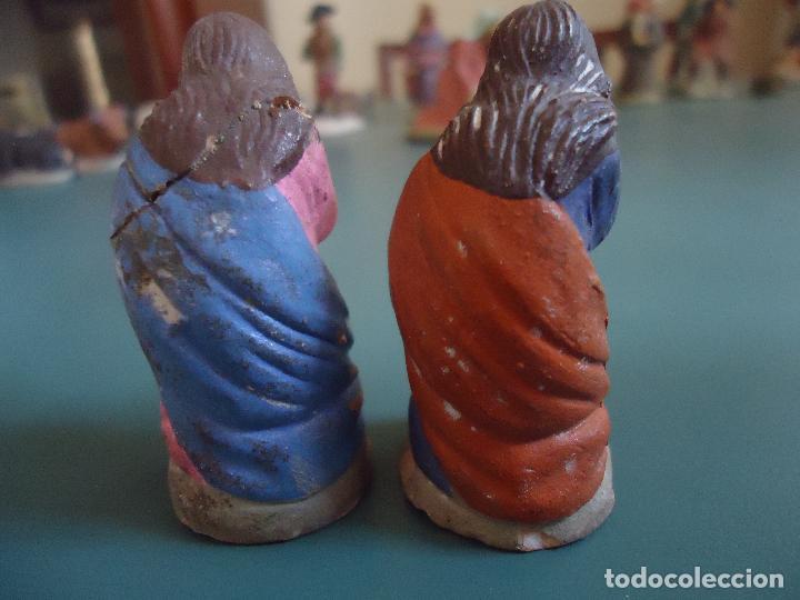 Figuras de Belén: Antigua figura de Belén Pesebre Murciano. José y María - Foto 3 - 211609927