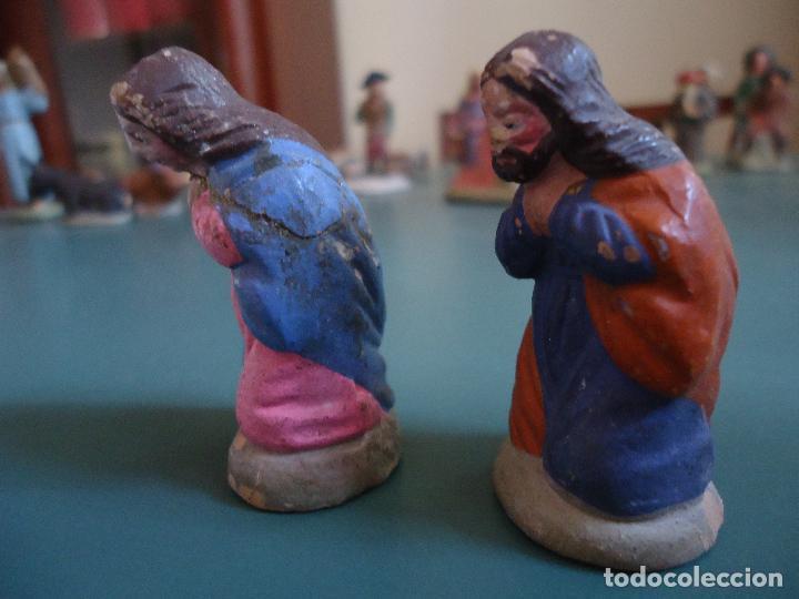 Figuras de Belén: Antigua figura de Belén Pesebre Murciano. José y María - Foto 4 - 211609927
