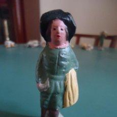Figuras de Belén: ANTIGUA FIGURA DE BELÉN PESEBRE MURCIANO. PASTOR CON MANTA.. Lote 211611199