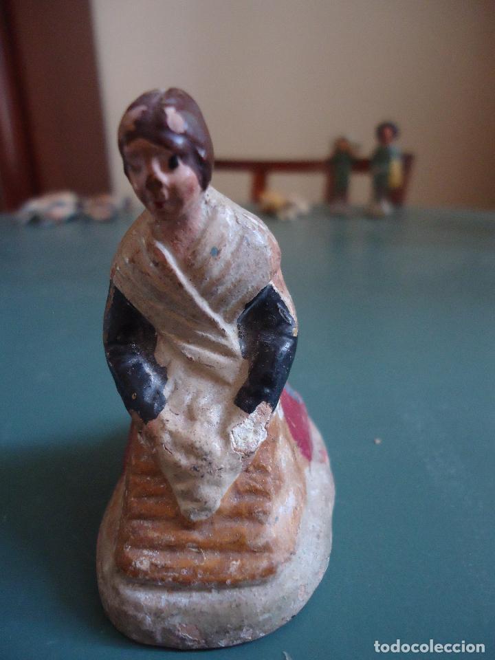 Figuras de Belén: Antigua figura de Belén Pesebre Murciano. Lavandera - Foto 2 - 211611307