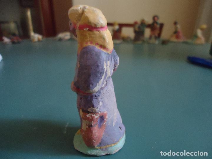 Figuras de Belén: Antigua figura de Belén Pesebre Murciano. Aldeana con cántaros - Foto 3 - 211613052