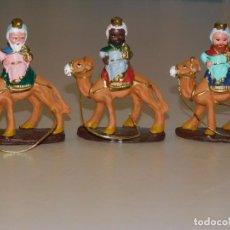Figuras de Belén: FIGURAS DE BELÉN *REYES A CAMELLO* AURORA (ALICANTE 1938 - BARCELONA) 10,3 CM ALT X 9 L. FOTOSS. Lote 211825518