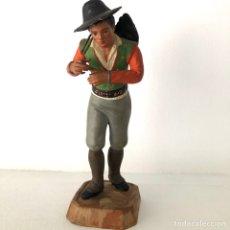 Figurines pour Crèches de Noël: FIGURA DE BARRO TERRACOTA PARA BELEN ROMAN GRANADA. Lote 213626003