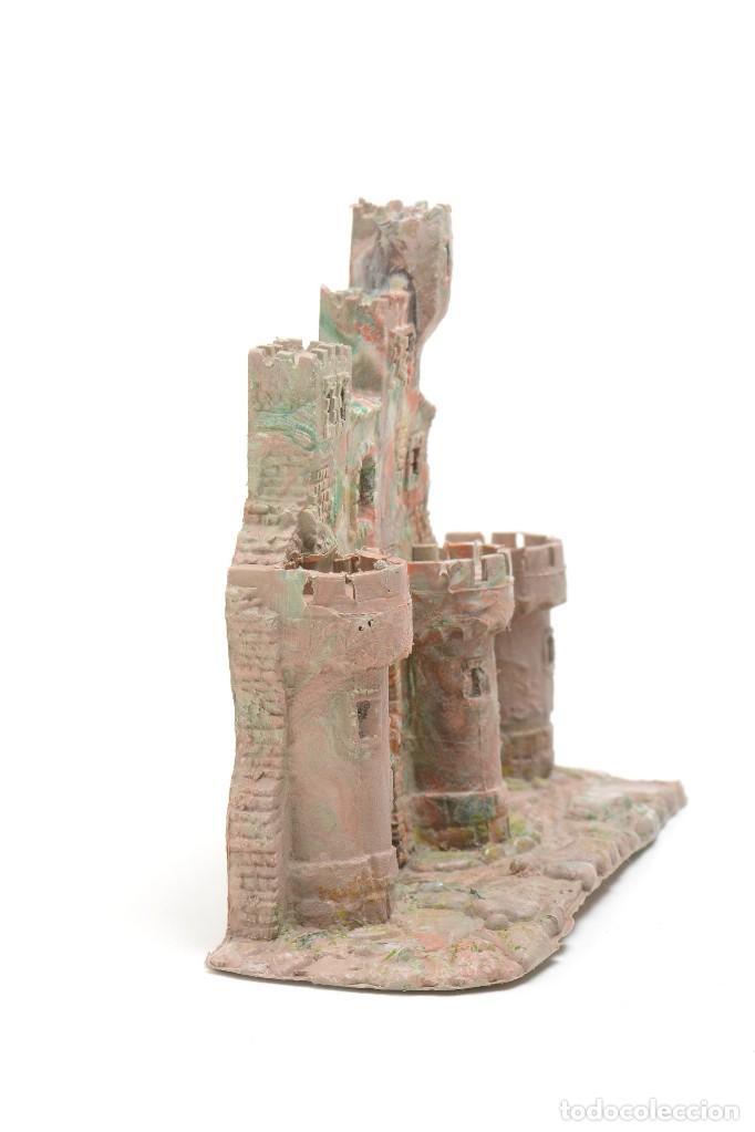 Figuras de Belén: Castillo antiguo de plástico, decoración pesebre, modelismo - Foto 3 - 214470341