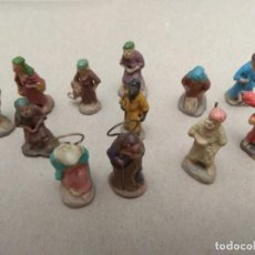 Figuras de Belén: LOTE 12 MINI FIGURITAS TERRACOTA PESEBRE. Lote 215253133